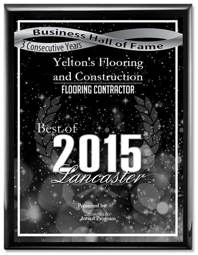 2015 Best of Lancaster- Flooring Contractor Award