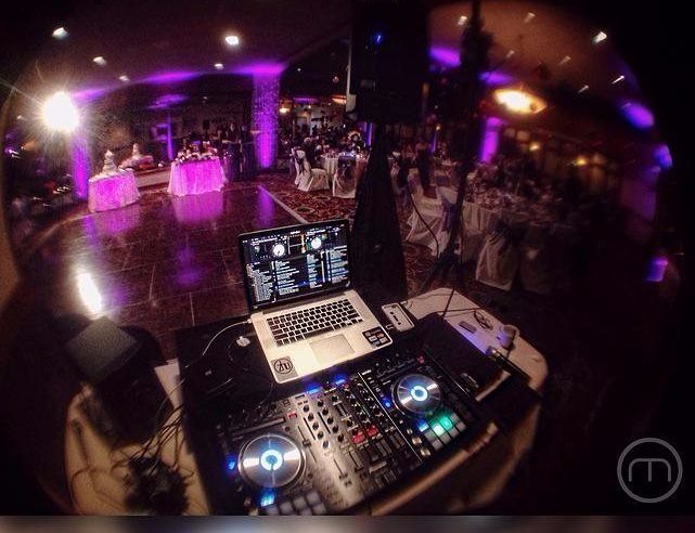 Wedding Setup DJ View at Wood Ranch