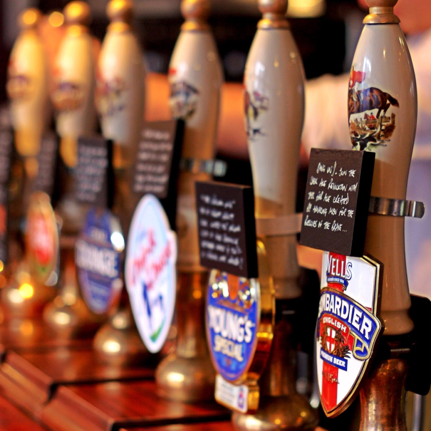 Our fine collection of 12 craft cask ales