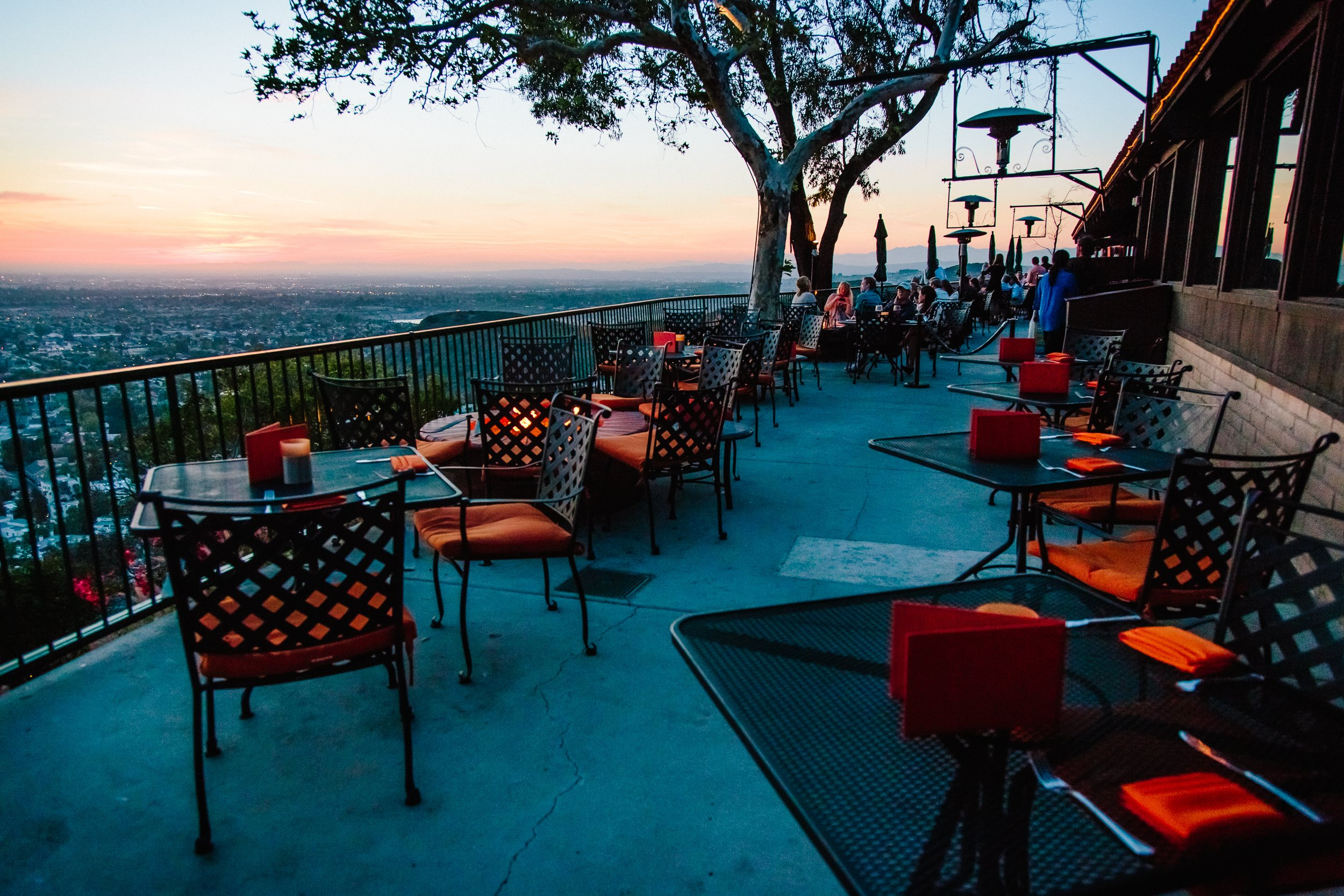 Orange Hill Patio at Sunset