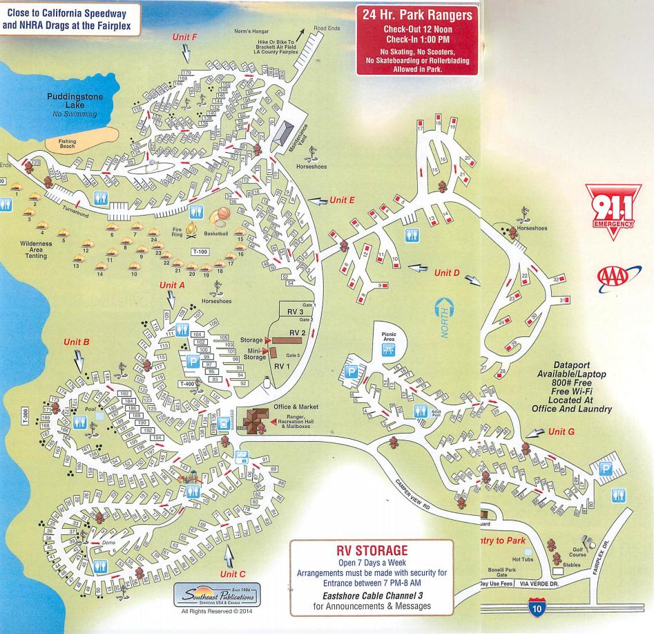 Resort Map East Shore Rv Park